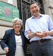 Alemanno e Marino hanno votato al mattino  più tardi son tornati al seggio con la mamma