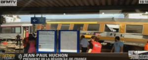 Disastro ferroviario a sud di Parigi.  Treno deraglia in piccola stazione  travolge pensiline e abbatte cavi elettrici.  Sembra molte vittime. Per ora 8 morti e decine di feriti. 16 gravi