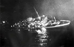 Quella mattina di 57 anni fa, 26 luglio 1956:  L'Andrea Doria affonda dopo 11 ore di agonia  speronata nell'Atlantico dalla nave Stockkolm