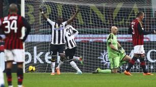 Coppa Italia: il Milan di Seedorf eliminato a San Siro dall'Udinese che vince 1-2. Friulani in semifinale