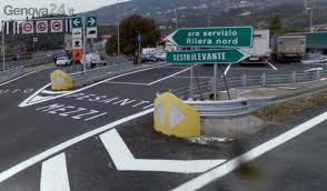 Frana sull'autostrada Genova-Livorno. Colpita la corsia sud tra Sestri Levante e Deiva Marina. Il traffico è ora ripreso