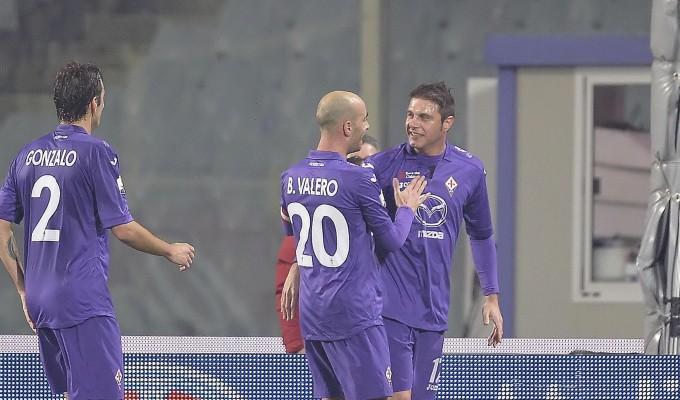 Coppa Italia: la Fiorentina al Franchi ha ragione del Chievo per 2-0 e si qualifica per i quarti di finale