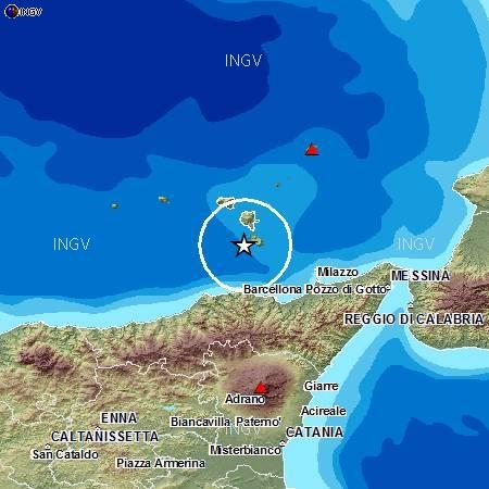 Terremoto di magnitudo 4 nel mare di Lipari. Due scosse consecutive in un'ora