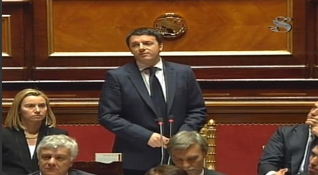 Il Governo Renzi ottiene la fiducia al Senato con 169 si e 139 voti contrari. Quattro voti in meno rispetto a quelli di Enrico Letta. Il suo programma costerebbe di 100 miliardi di Euro