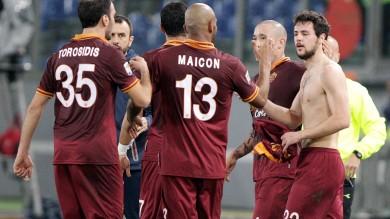 La Roma con un secco 3-0 liquida la Sampdoria all'Olimpico. Doppietta di Destro e gol di Pijanic