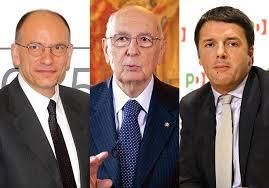 """Napolitano lascia a Renzi l'intera responsabilità della scelta dei ministri e ringrazia Enrico Letta. Quello che nasce non é il """"Governo del Presidente""""?"""