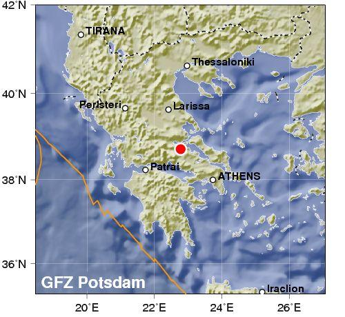 Terremoto 4.9 colpisce il centro continentale della Grecia.