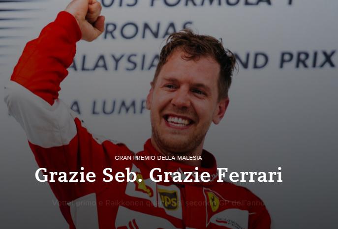 La Ferrari torna inaspettatamente a vincere al Gran Premio di Malesia. Merito di Montezemolo o di Marchionne? Sicuramente del team