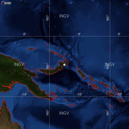 Violento terremoto, di 7,6 magnitudo, colpisce la Nuova Guinea