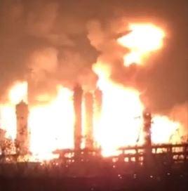 Incendio distrugge impianto chimico in Cina