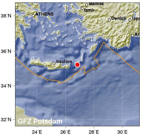 Terremoto a Creta: fino ad intensità 6,4