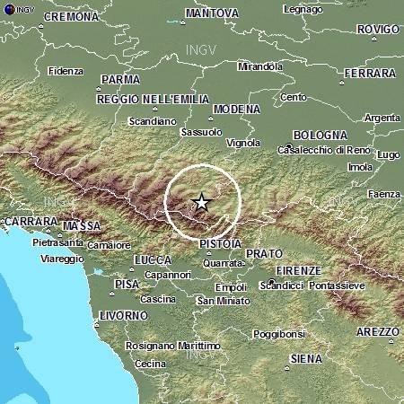 Continuo sciame sismico Appennino Tosco emiliano con 228 scosse in tre giorni