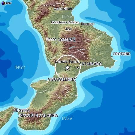 Terremoto di 3.1 avvertito in moltissimi comuni della Calabria