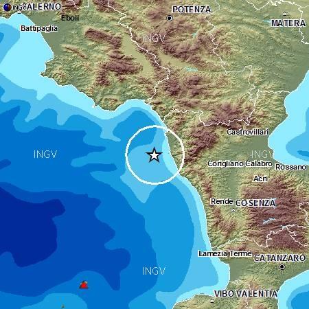 Terremoto nel Tirreno sulle coste calabre: 3.3 di magnitudo
