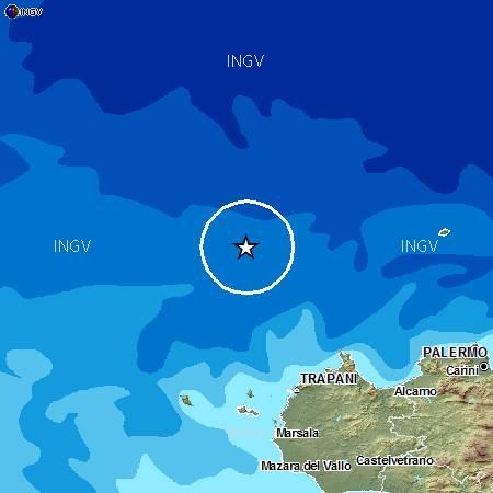 Terremoto nel basso Tirreno verso la Sicilia: 3.4 di magnitudo