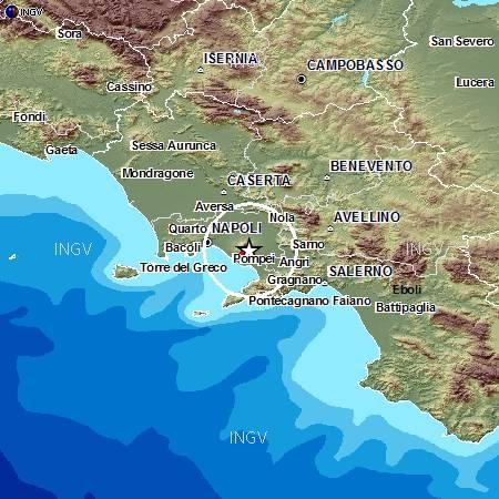Terremoto sotto il Vesuvio. Piccola intensità, ma c'é da preoccuparsi?