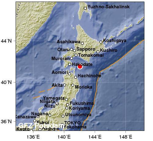 Violenta scossa di magnitudo 6 in Giappone al nord di Fukushima. Allarme Tsunami