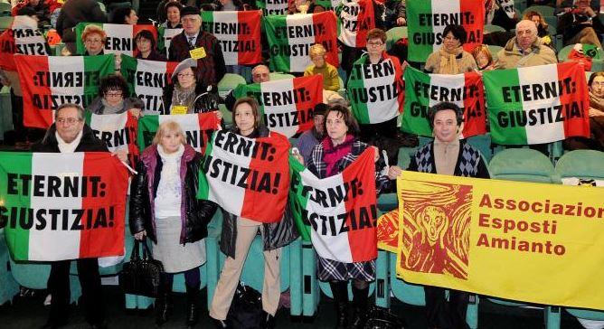 Eternit Torino: finisce alla Corte Costituzionale nuovo processo sui morti per amianto