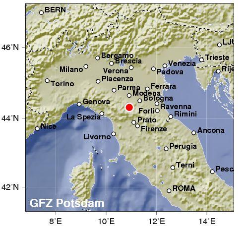 Terremoto di intensità 4,2 nel nord Italia