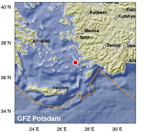 Terremoto colpisce le isole del Dodecanneso in Grecia, tra cui Rodi