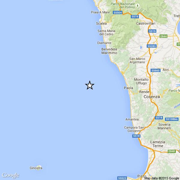 Forte terremoto nel mare di Calabria. Fortunatamente senza conseguenze