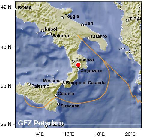 E' stata di 4.2 la scossa di terremoto avvertita in Calabria. No danni, solo paura