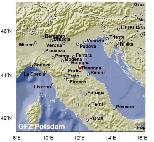 Terremoto avvertito in Romagna tra Forlì, Cesena e Rimini