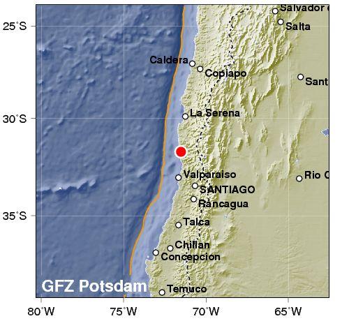 Forte terremoto sulla costa del Cile. Rischio tsunami