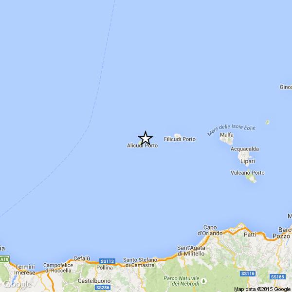 Terremoto a Filicudi avvertito in tutte le Eolie e nord Sicilia