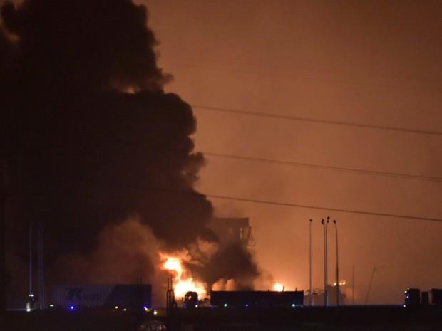 Violente esplosioni nella città portuale cinese di Tianjin al sud di Pechino