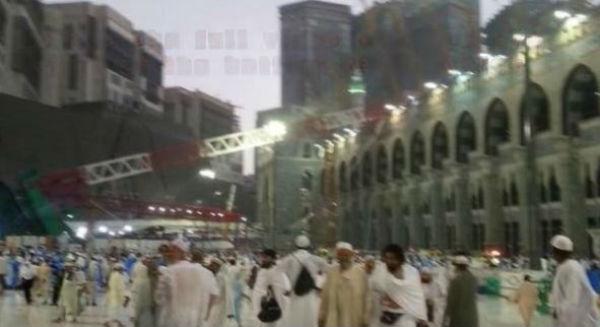 52 morti e 30 feriti per il crollo di una gru alla Moschea di La Mecca