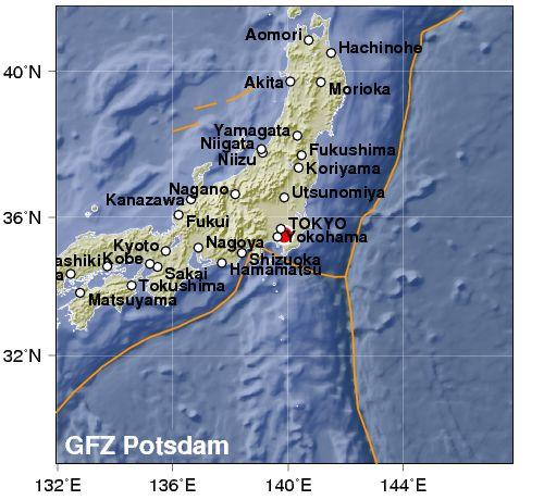 Terremoto nella baia di Tokyo. 5,3 di magnitudo, ma senza rischio tsunami