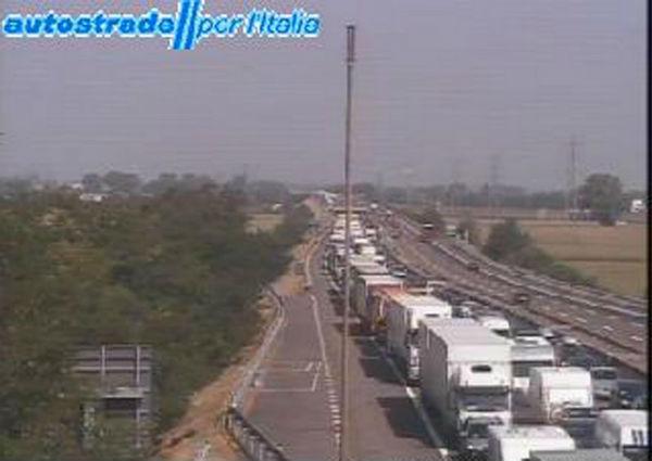 Chiusa autostrada A1 tra Roma e Orte