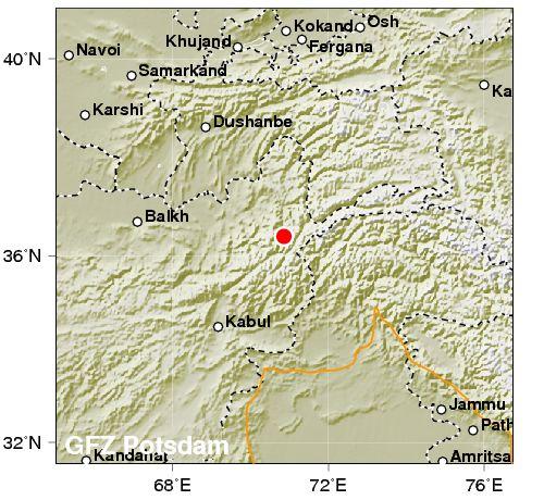 Tremendo terremoto scuote Afghanistan: 7.7 di magnitudo. Colpiti anche India e Pakistan