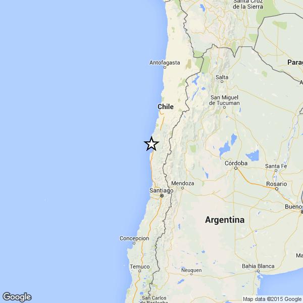 Terremoto 6.1 sulla costa del Cile