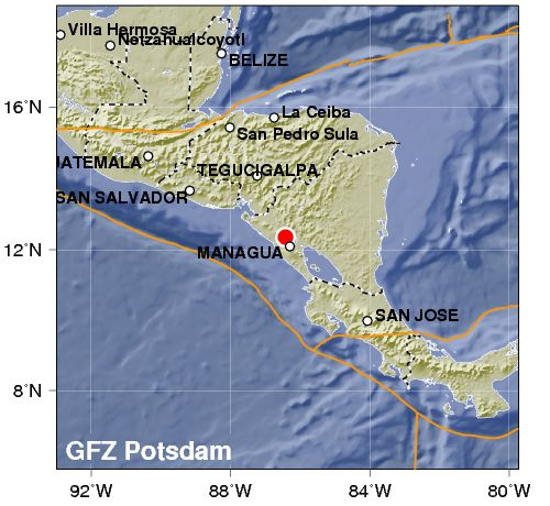 Nicaragua: forte terremoto sotto la capitale Managua. Feriti e case crollate