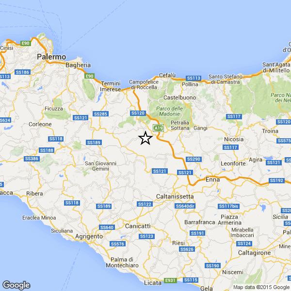 Terremoto nei pressi di Palermo