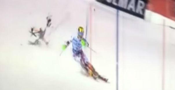 Coppa di sci: solo per poco drone caduto non colpisce Hirscher a Madonna di Campiglio
