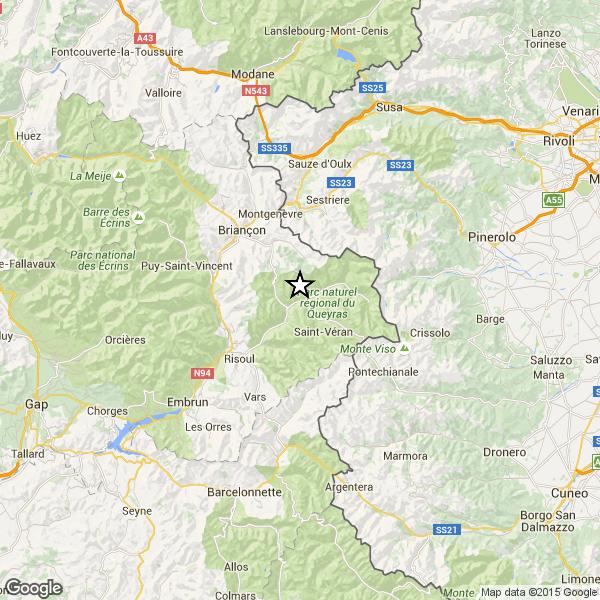 Terremoto sulle Alpi tra Francia e Italia