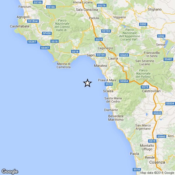 Terremoto tra Salerno e Cosenza, nel Golfo di Policastro