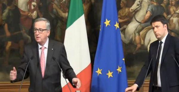 Italia e Ue: abbiamo scherzato. Scoppia la pace tra Renzi e Juncker
