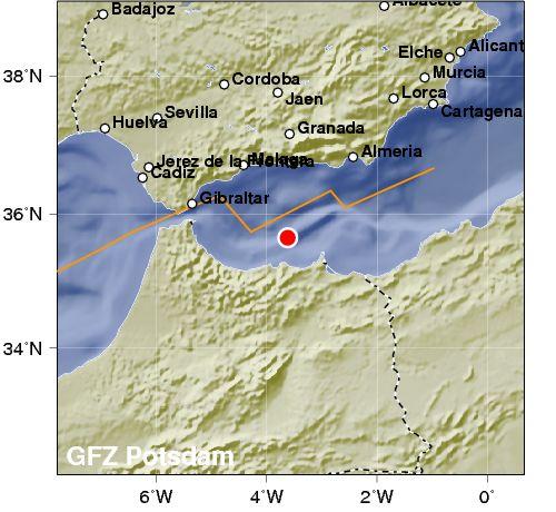 Violento terremoto e sciame sismico nello Stretto di Gibilterra