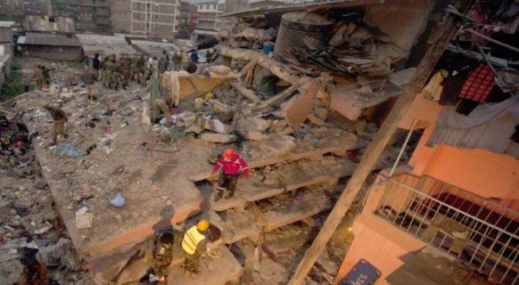 Nairobi crolla edificio di sette piani sette morti for Piani di costruzione dell edificio
