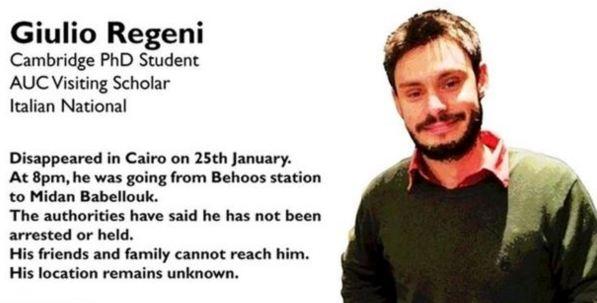 Cairo: arrestato il consulente della famiglia Regeni