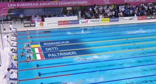 Europei di nuoto: oro Paltrinieri, argento Detti