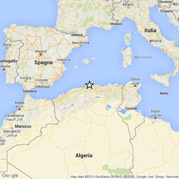 Violento terremoto in Algeria
