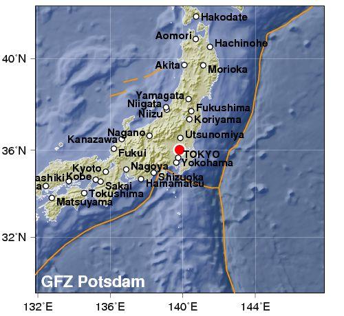 Violentissimo terremoto vicino Tokyo