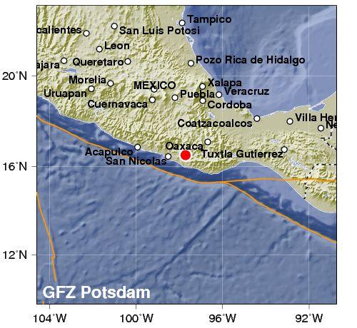 Terremoto 5.9 nel sud del Messico