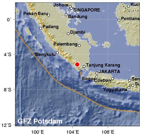 Indonesia: violente scosse a Sumatra. 6.1