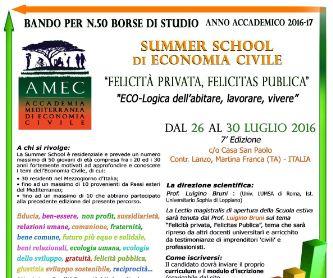 Felicità privata e pubblica: 50 borse di studio a Taranto
